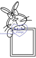 Digi Singles,Critter sign it - bunny,Bugaboo Stamps,