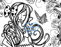 Digi stamps,butterfly rose girl,Bugaboo Stamps,