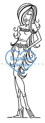 Casual Girlz digi stamp, clip art, illustration from Bugaboo