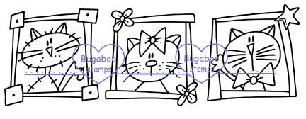 Digi Singles,Cat block trio,Bugaboo Stamps,