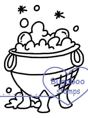 Digi Singles,Magical Tidbit - cauldron,Bugaboo Stamps,