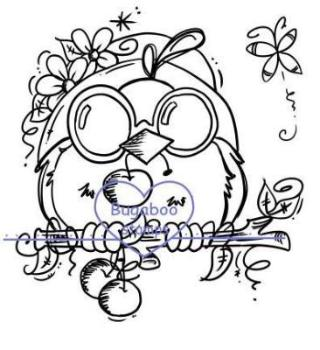 Digi stamps, summer Cherry bird,Bugaboo Stamps,