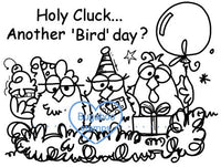 Digi Singles,chickz - holy cluck another birdday,Bugaboo Stamps,