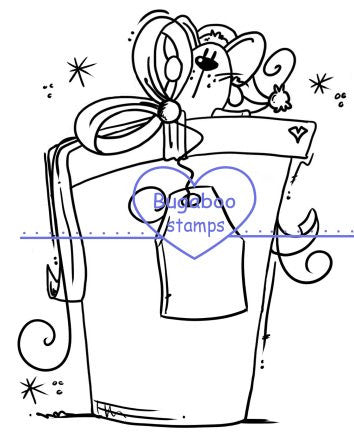 cute Christmas Mouse image, Digi stamps, clip art, illustrations from Bugaboo Stamps