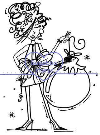 Digi stamps,Christmas Ornament Gal,Bugaboo Stamps,