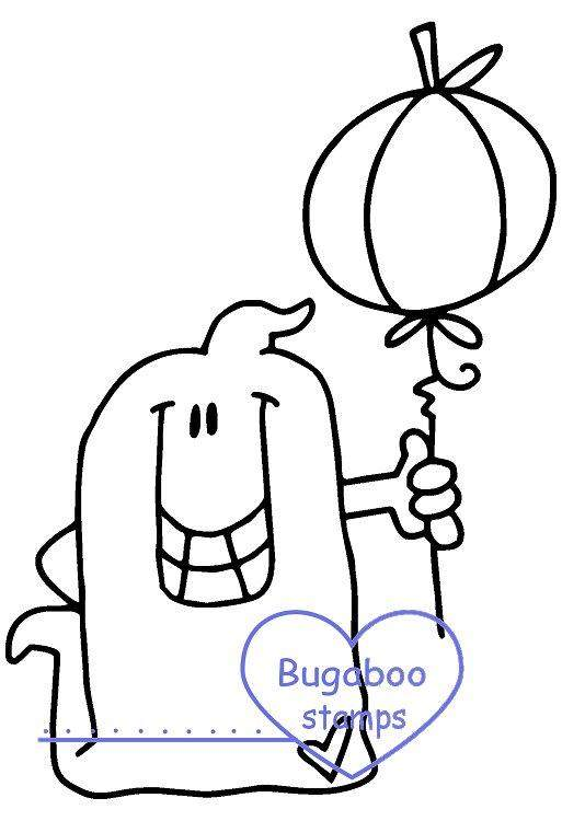 Digi stamps,Chubby Ghost - balloon,Bugaboo Stamps,