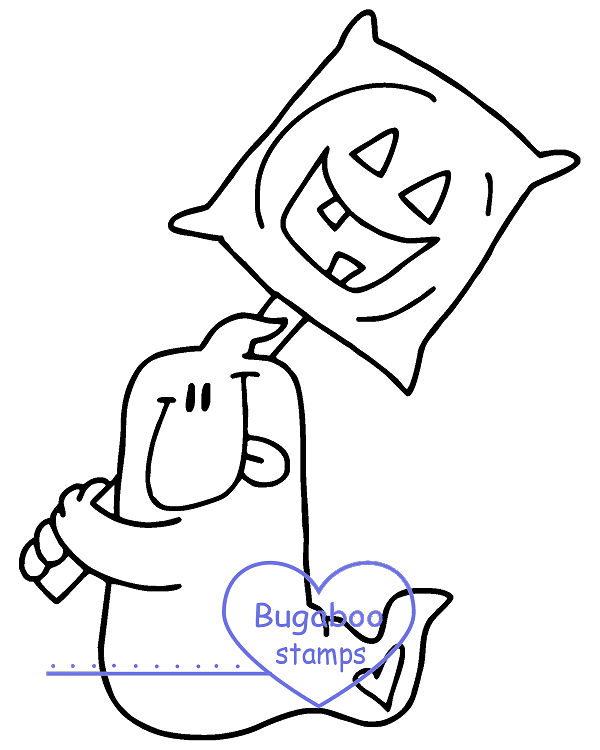 Digi stamps,Chubby Ghost sucker,Bugaboo Stamps,