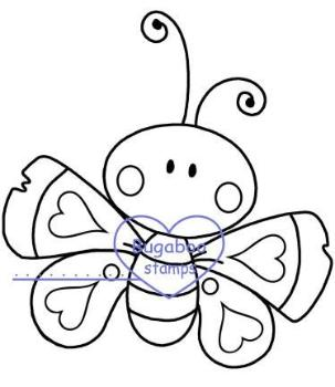 Digi Singles,chubby butterfly 2,Bugaboo Stamps,