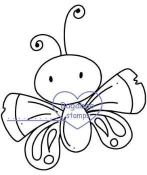 Digi Singles,chubby butterfly 1,Bugaboo Stamps,
