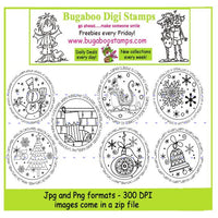 Digi Singles,Digi Sets,Word art/ Sentiments,Mini Set - Christmas tags,Bugaboo Stamps,