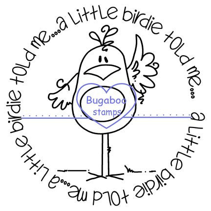Word art/ Sentiments,Digi Singles,Circle Sentiments - birdie told me,Bugaboo Stamps,