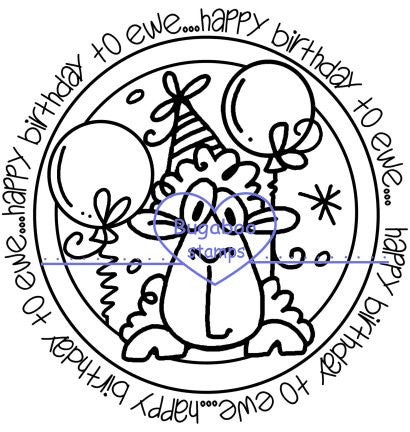 Word art/ Sentiments,Digi Singles,Circle Sentiments - Birthday ewe,Bugaboo Stamps,