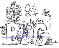 Word art/ Sentiments,Digi Singles, cute as a bug sign,Bugaboo Stamps,
