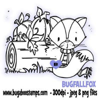 digi stamps,autumn fox,bugaboo stamps
