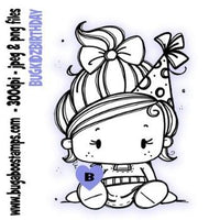Digi Stamp Kids Birthday Girl from Bugaboo Stamps
