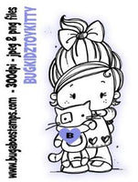 digi stamp,Kidz Girl Toy Kitty image,Bugaboo Stamps