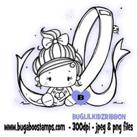 Digi Stamps Lil Kidz Support Ribbon from Bugaboo Stamps