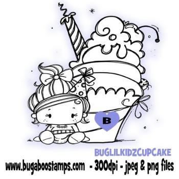 Digi Stamps Lil Kidz Birthday Cupcake from Bugaboo Stamps