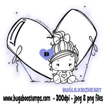 Digi Stamps Lil Kidz Love Heart from Bugaboo Stamps