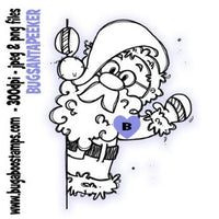Digi stamps Santa Clause Peeker from Bugaboo Digi Stamps