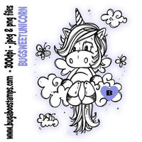 digi stamps sweet unicorn digital image from Bugaboo Stamps