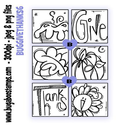 digi stamps Give Thanks blocks digital image from Bugaboo Stamps