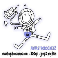digi stamps,AKV Astronaut Rocket 2,bugaboo stamps