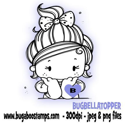 digi stamps,clipart,kidz bella girl topper,Bugaboo Stamps