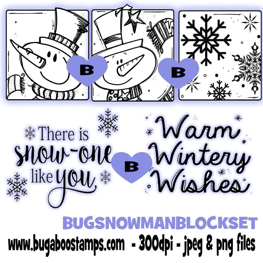 Digi Stamps,Snowman Block Set,Bugaboo Stamps