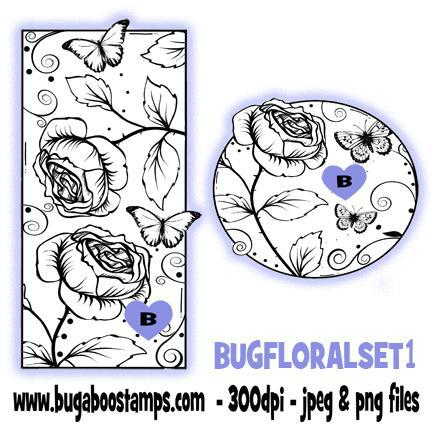digi stamps clip art illustrations rose block set bugaboo stamps