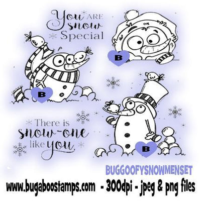 digi stamps,goofy winter snowmen set,bugaboo stamps