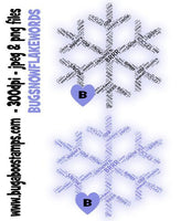 digi stamps,snowflake word art,bugaboo stamps