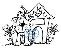 Digi Singles,dog house,Bugaboo Stamps,