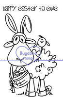 Digi Singles,Happy Easter to ewe,Bugaboo Stamps,