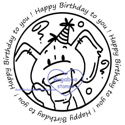 Word art/ Sentiments,Digi Singles,Edward Elephant -  Happy Birthday,Bugaboo Stamps,