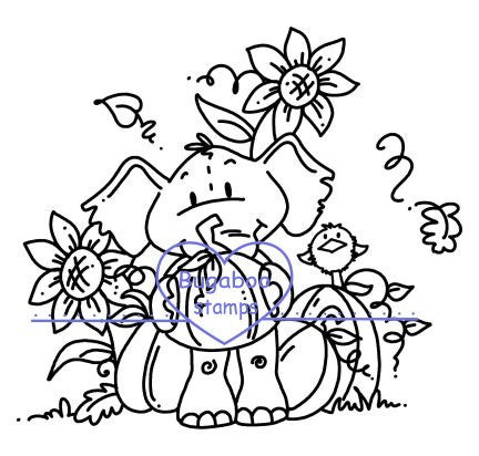Digi stamps, edward fall pumpkins,Bugaboo Stamps,