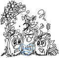 Digi Stamps,Fall Pumpkin Trio,Bugaboo Stamps,