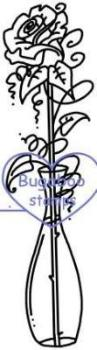 Digi stamps,fancy rose vase,Bugaboo Stamps,