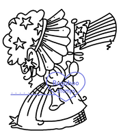 Sunbonnet July USA Digi stamps, Images, clip art, coloring pages and illustrations from Bugaboo Stamps