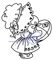 Sunbonnet Love Digi stamps, Images, clip art, coloring pages and illustrations from Bugaboo Stamps