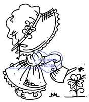 Sunbonnet St. Patrick's Day Digi stamps, Images, clip art, coloring pages and illustrations from Bugaboo Stamps