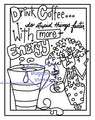 Digi Singles,Frame it  - Stella - drink coffee,Bugaboo Stamps,