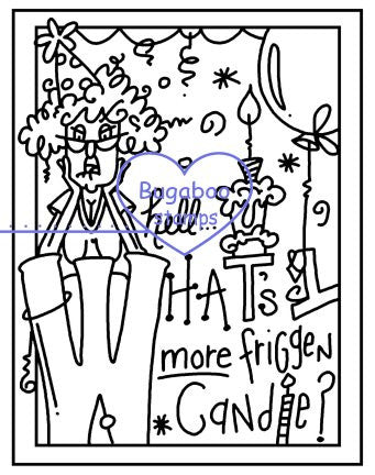 Digi Singles, Frame it  - Stella - one more candle,Bugaboo Stamps,