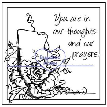 Digi stamps,Frame it - our thoughts and prayers candle,Bugaboo Stamps,