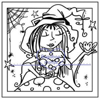 Digi stamps,Frame it witch frog,Bugaboo Stamps,