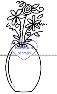 Digi Singles,flower bunch vase,Bugaboo Stamps,