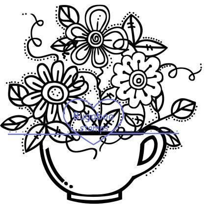 Digi Singles,teacup flowers 2,Bugaboo Stamps,