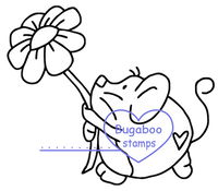 Digi Singles, Fat Mice - flower,Bugaboo Stamps,