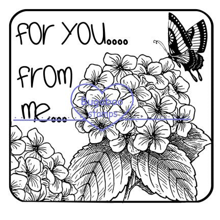 Digi Singles,Block - for you from me flower,Bugaboo Stamps,