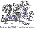 Digi Singles,Friends dont let Friends Wine Alone,Bugaboo Stamps,